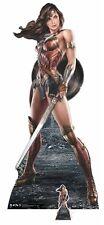 Wonder Woman with Shield Lifesize and Mini Cardboard Cutout / Standup / Standee