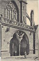 22 - cpa - Cathédrale de TREGUIER - Portail Ouest