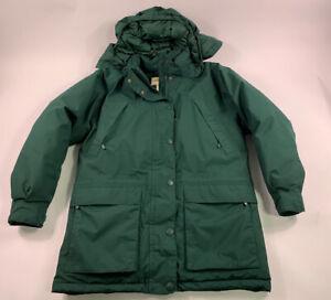 Eddie Bauer Ridgeline Gore-Tex Navy Green Goose Down Parka Jacket Medium Womens