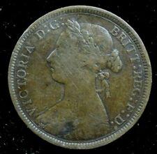 1887 VICTORIA HALF PENNY - Bronze - Very Fine Condition
