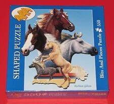 HORSE JIGSAW PICTURE PUZZLE 2004 UNOPENED BITS and PIECES PALOMINO PAINT GRAY