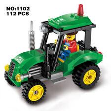 Enlighten 1102 City Tractor Car Green Engineering Vehicle DIY Building Block Toy
