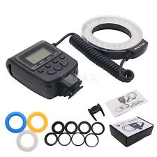 Macro Anillo Flash De Luz LED Flash Speedlite para Canon Nikon Sony Panasonic -