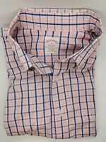 XL Brooks Brothers Men's Button Down Long Sleeve RELAX FIT Non Iron Pink