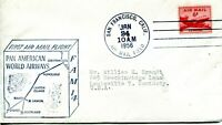 FIRST AIR MAIL FLIGHT FROM SAN FRANCISCO, CA TO PAGO PAGO, SAMOA ON JAN 26 1956