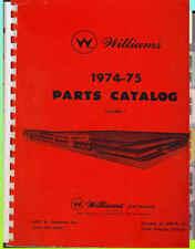 Williams Parts Catalog 1974-75 Original! Pinball, Arcade, Baseball
