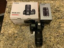Canon EOS 80D 24.2MP Digital SLR Camera - Black with 75-300 Lens