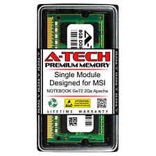 8GB PC3-12800 DDR3 1600 MHz Memory RAM for MSI NOTEBOOK GE72 2QE APACHE