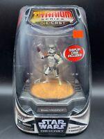 Star Wars Titanium Series Painted Die Cast Figure - Sandtrooper & Display Case