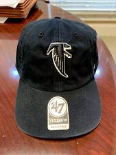 New listing New W S. Vintage Atlanta Falcons '47 Brand Mens Black Clean Up Adjust. Hat Cap