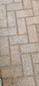 used block paving bricks