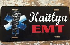 Personalized License Plate Car Tag Name Custom EMT  First Responder New