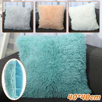 Fluffy Soft Plush Square Pillow Cushion Case Waist Throw Cushion Cover Pad