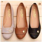 BN Womens Casual Comfy Cute Ballet FLATS BALLERINA Work Shoes Beige Black Brown