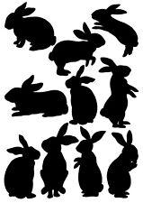10 Rabbit vinyl stickers Kids Bedroom Decal window Boys wall art Peter  bunny