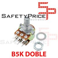 Potenciometro B5K lineal DOBLE 5k OHM kΩ  - linear double potentiometer 5k