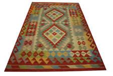 Tapis Chobi kélim Orient 98x157 cm 100% laine tissé à la main rouge jaune multi