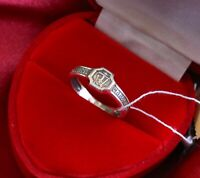 OLD STYLE RUSSIAN ORTHODOX SILVER RING w/ CROSS. NEW PRAYER RNG. SILVER BAND