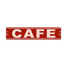 CAFE Blech Schild 71cm USA CAFE FOOD BAR DINER PUB retro American Burger groß