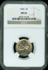 1965-P Jefferson Nickel NGC MS65