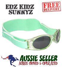 EDZ KIDZ SUNNYZ - Kids Baby Sun glasses GREEN+Bag 100% UV PROTECT- FREE SHIPPING