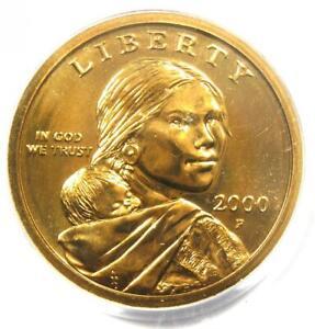 2000-P Goodacre Sacagawea Dollar $1 - PCGS SP66 (MS66) - Rare Variety!
