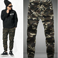 DESIGNED MENS CAMOUFLAGE CAMO PANTS BOY JOGGERS SPORT SWEATPANTS WORK TROUSERS