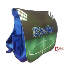 PERSONALISED BACKPACK BAG -BOYS FOOTBALL PITCH DESIGN - Gift- Any Name