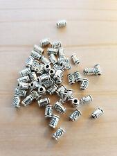 PD 20 Edelstahl Charms Perlen Beads Spacer DIY 5x3.8mm für Bänder 3mm