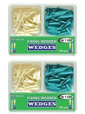 200 Pcs Dental Wooden Wedges Of 2 Types Tor Vm