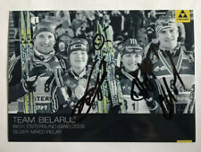 orig. Biathlon Autogramm Team Weißrussland u.a. Darya Domracheva