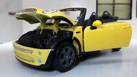 1:24 Scale Maisto Diecast Yellow Model Mini Cooper S Cabrio Convertible Car