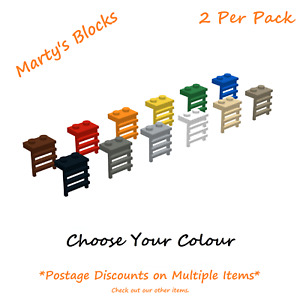 Lego Plate Modified, 1 x 2, with Ladder, 4175, Choose Your Colour, Qty 2