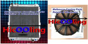Aluminum radiator for HILUX SURF KZN130 1KZ-TE AT MT 1993-1996 Shroud Fan 94 95
