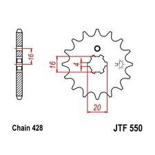 (263585) Piñon JT Yamaha DT 80 (15 dientes)