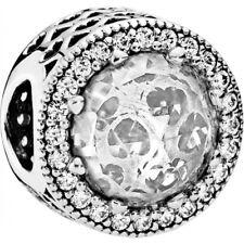 Authentic Pandora Charm--Radiant Hearts Clear 791725CZ  Bead