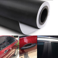 40cmx100cm 3D black Carbon Fiber Vinyl Car DIY Wrap Sheet Roll Film Car Sticker