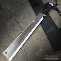 "19"" Chrome FLAT HEAD FULL TANG CHOPPER MACHETE SWORD Fixed Blade Survival SHARP"