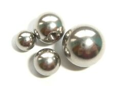 1.6mm 14ga x 4mm 5mm 6mm 8mm REPLACEMENT STEEL BALLS FOR BODY BAR OR LABRET STUD