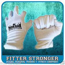 Morgan Boxing Glove Cotton Inners Sweat Liner Inserts Hygeine White Unisex