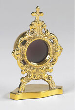 """Oval Personal Reliquary Made of Brass - 2"""" W x 3-1/2""""H"""