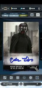 Topps Star Wars Card Trader Kylo Ren Rise Signature 15cc Skywalker Legendary