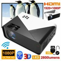 Full HD 1080P 4K WiFi Android Home Theater Mini LED 3D Projector BT HDMI USB