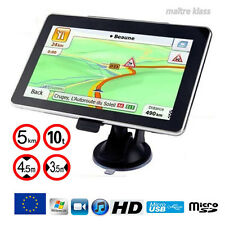NAVIGATEUR GPS 7 POUSES SPECIAL POIDS LOURDS CAMION CARAVANE EU 2017,.