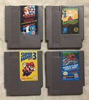 NES Video Game Lot Super Mario 1 & 3 Duck Hunt Baseball World Class Track Meet