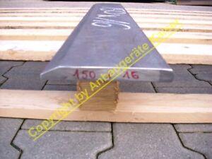 Schürfleiste Messerstahl 500HB (wie Hardox 500) Querschnitt 150x16mm alle Längen
