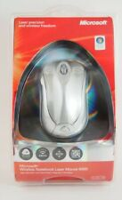 Microsoft Wireless Notebook Laser Mouse 6000 - Silver - New, Sealed  Free! Ship