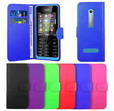 Nokia Asha Housse Etui Flip Coque Portefeuille en Cuir Wallet Cover Case