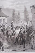 ARMEE FRANCAISE ENTRE EN BELGIQUE 1831  GRAVURE 1838 VERSAILLES R1597