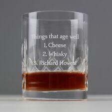 Personalised Engraved Crystal Whisky Gin Spirit Glass Tumbler Birthday Christmas